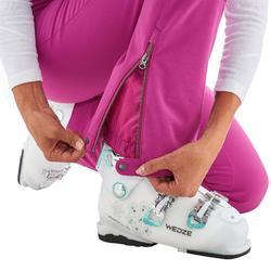 Skihose Slide 500 Slim Damen violett