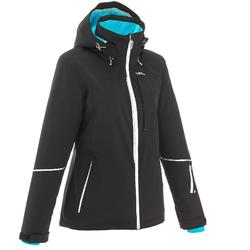 Chaqueta de esquí All Mountain Wed'ze AM580 Mujer Negro