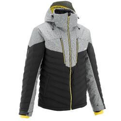 Ski-jas heren voor pisteskiën SKI-P JKT 900 Warm grijs