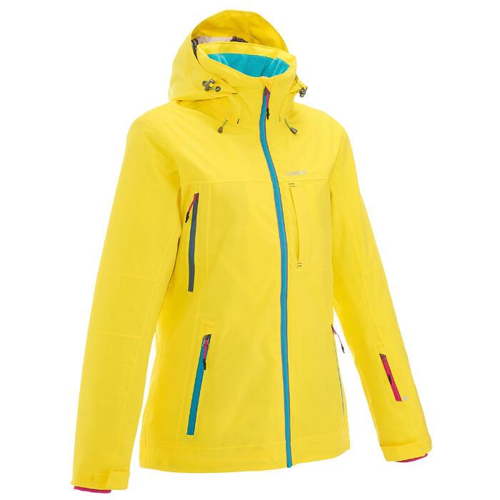 Skijacke Free 500 Damen gelb