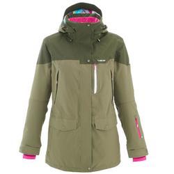 Ski- en snowboardjas Free 700 voor dames groen