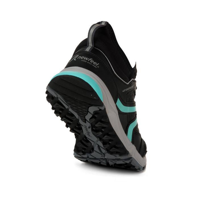 Chaussures marche nordique femme NW 580 Waterproof noir / bleu - 1198642