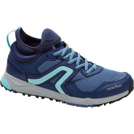 chaussures marche nordique femme nw 500 bleu newfeel. Black Bedroom Furniture Sets. Home Design Ideas