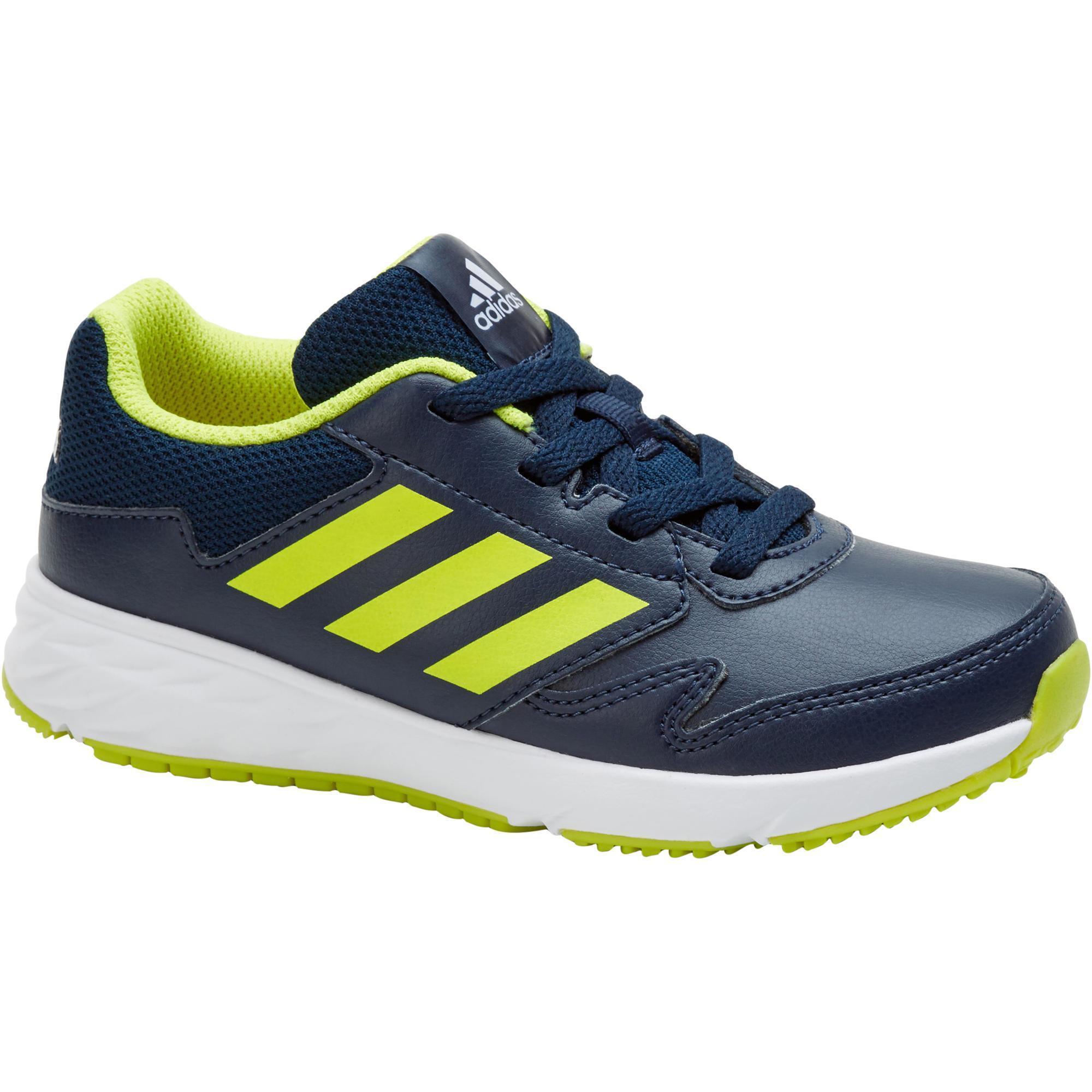 Adidas Kindersneakers Fastwalk met veters blauw-geel