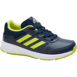 Kindersneakers voor sportief wandelen Fastwalk2 veters blauw / geel