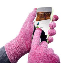 Trek 500 Mountain Trekking Liner Gloves - Purple