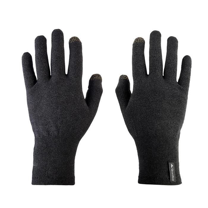Sous-gants trekking montagne TREK 500 noir