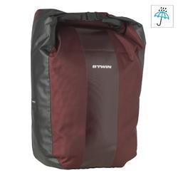 Fahrradtasche für Gepäckträger 500 wasserdicht 20 l bordeauxrot