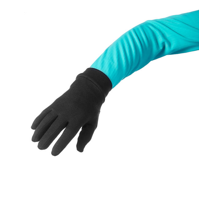 Mountain Trekking Silk Liner Gloves TREK 500 - Black