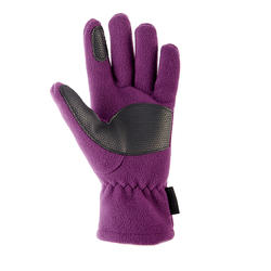 Children's fleece hiking gloves MH500 - Purple