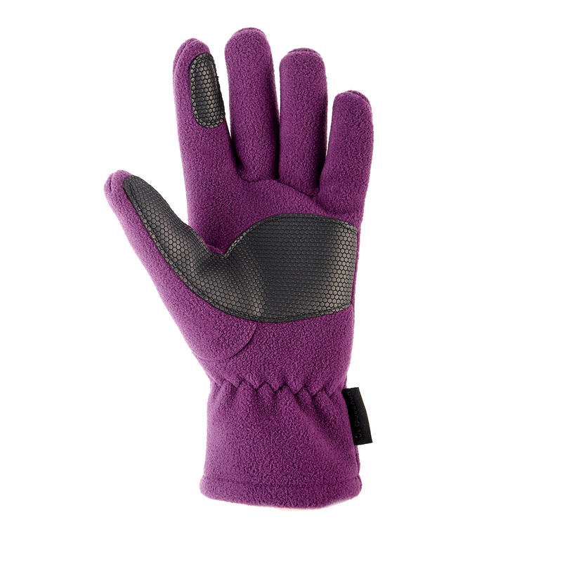Children's fleece hiking gloves MH500 - Purple