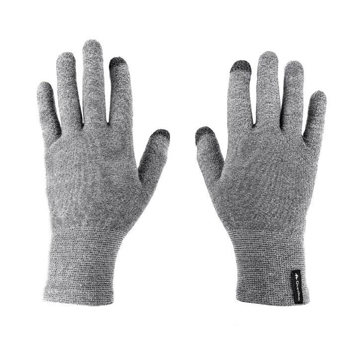 Touchscreen handschoenen voor bergtrekking Trek 500 grijs uniseks