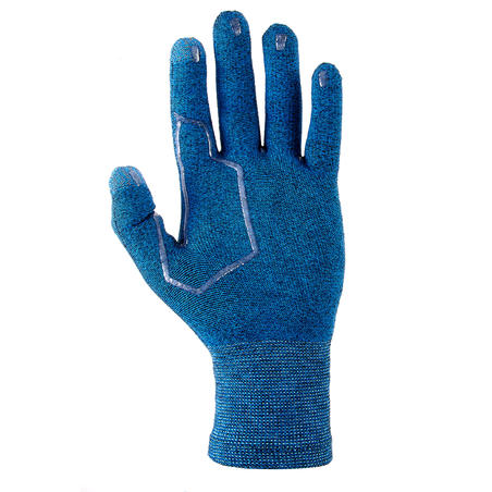Sous-gants randonnée en montagne RANDO 500 bleus