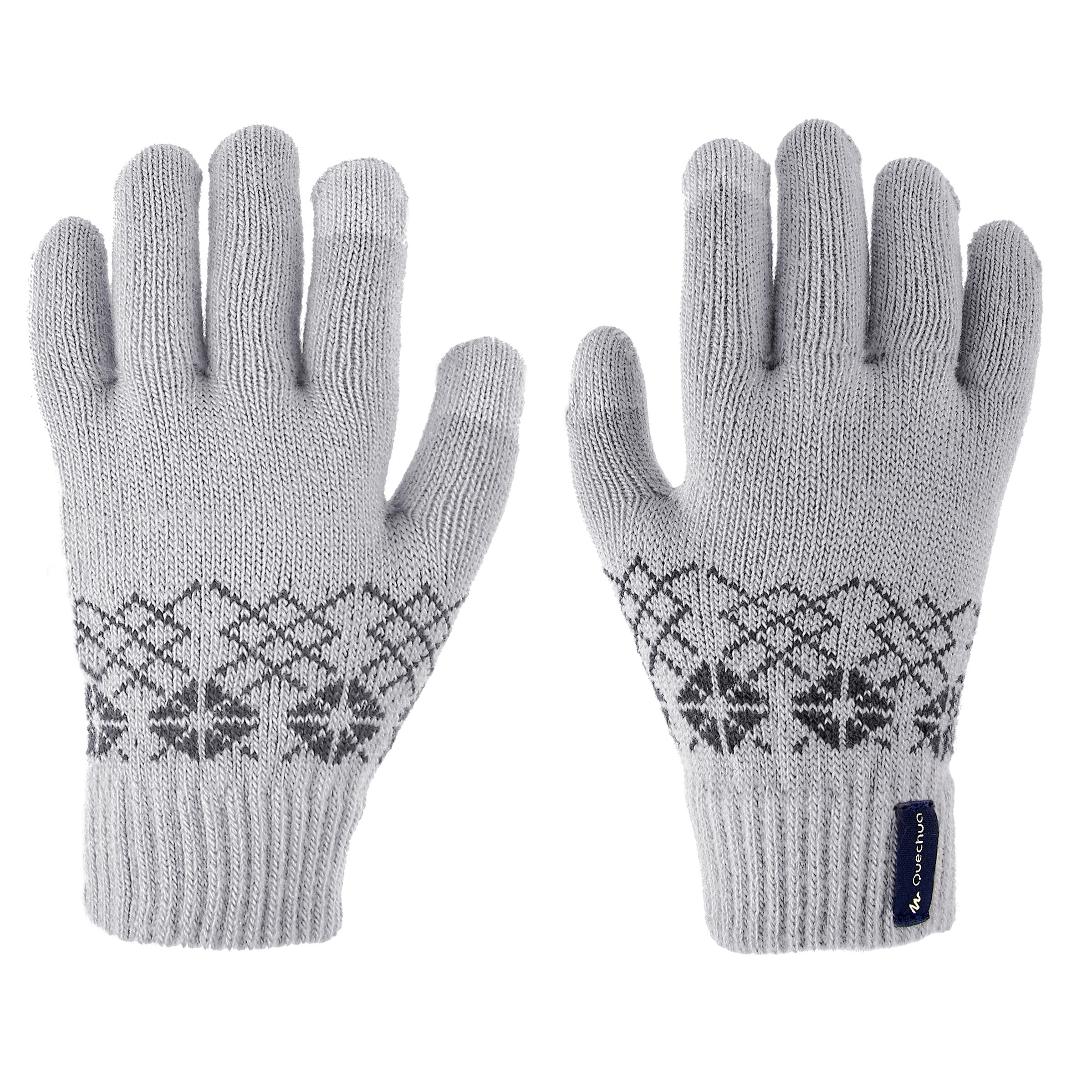 SH100 Warm Child's Hiking Knit Gloves-Grey