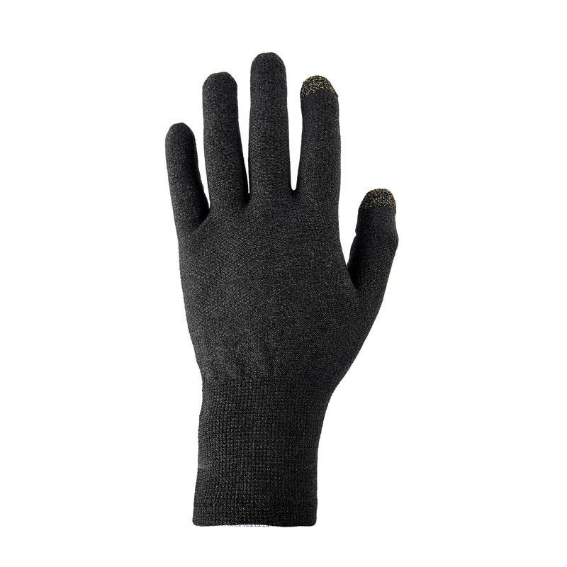 Trek 500 Mountain Trekking Liner Gloves - Black