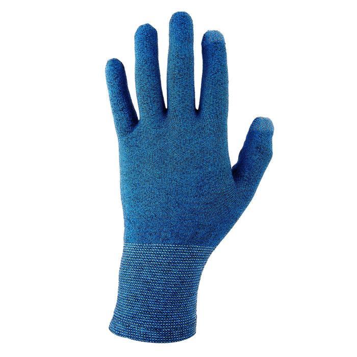 登山健行襯裡手套Trek 500–藍色