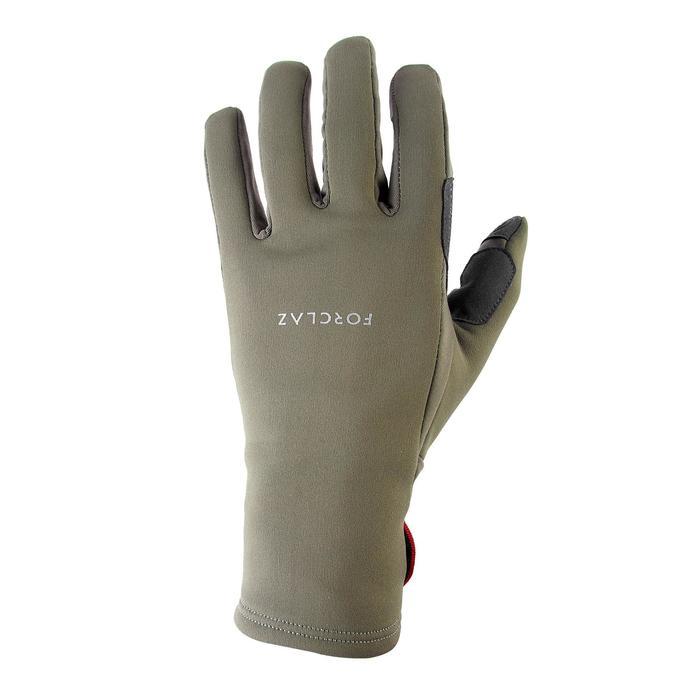 Handschoenen voor bergtrekking volwassenen Trek 500 kaki