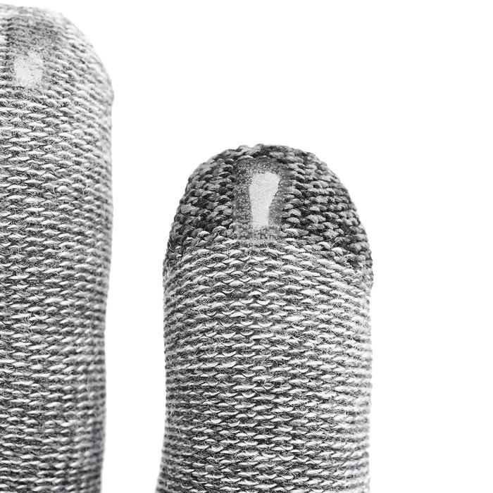 Sous-gants tactiles de trekking montagne - TREK 500 gris unisexe