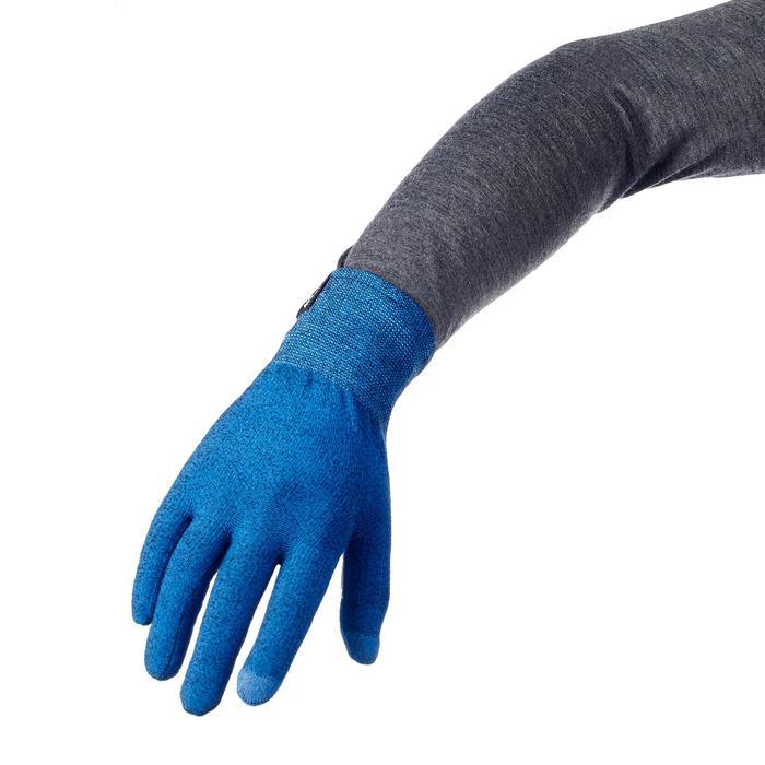Unterziehhandschuhe Trek 500 blau