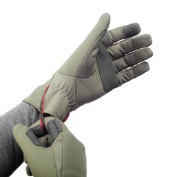 Handschoenen voor bergtrekking Trek 500 volwassenen kaki