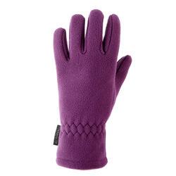 Guantes polares de senderismo júnior SH100 warm violeta