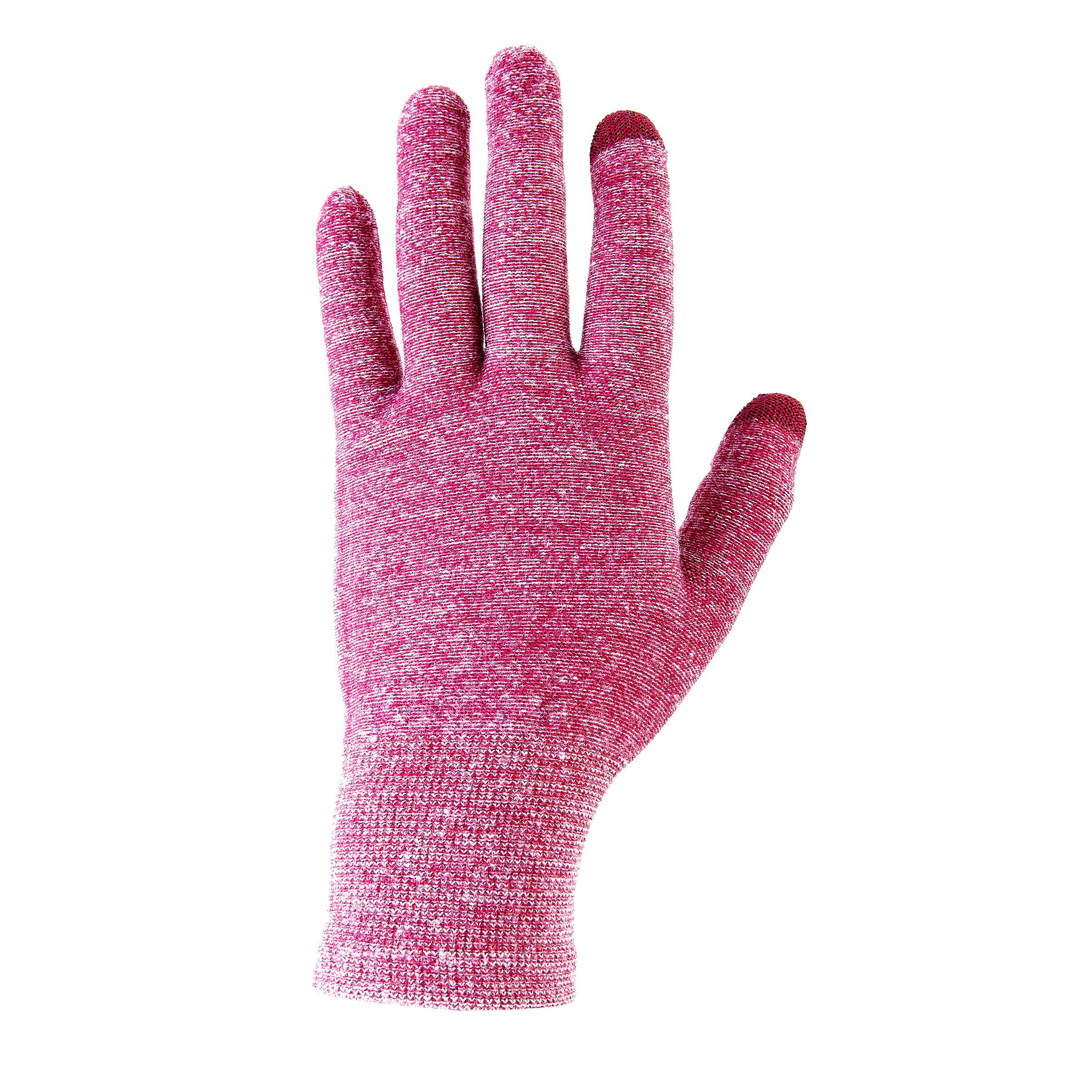 Sous-gants randonnée en montagne RANDO 500 violet