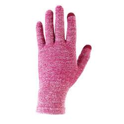 Trek 500 山區徒步旅行運動內襯手套 紫色