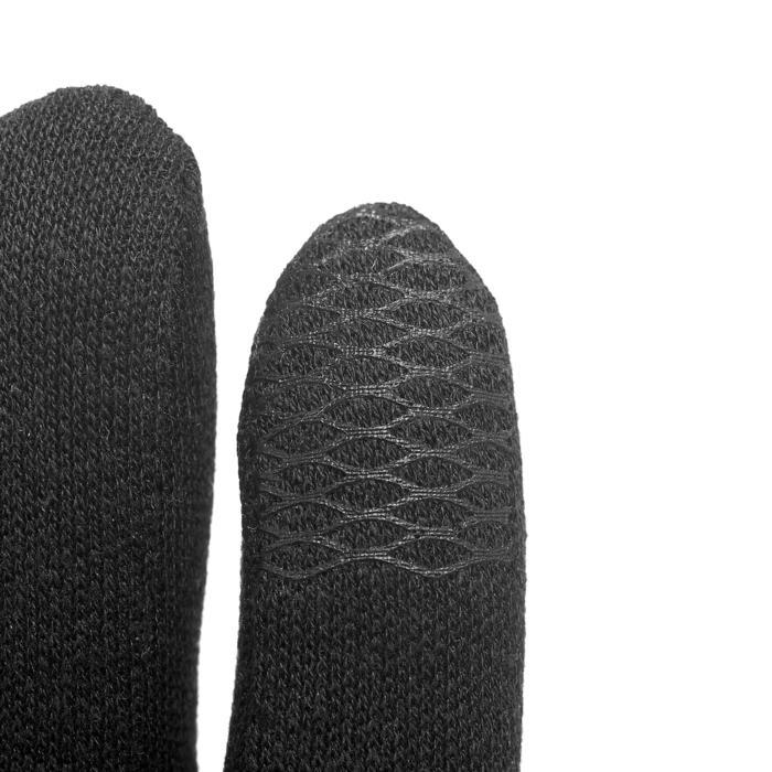 Sous-gants de randonnée junior SH100 Soie warm noirs - 1198824