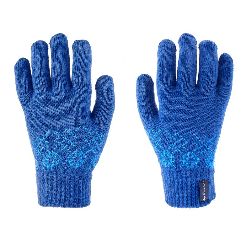 ถุงมือเด็กแบบถักสำหรับใส่เดินป่ารุ่น MH100 (สีฟ้า)