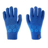 Gants de randonnée enfant MH100 maille bleus