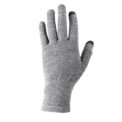Unisex Mountain Trekking Touchscreen-Compatible Liner Gloves Trek 500 - grey