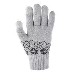 Handschuhe Strick SH100 Warm Kinder grau