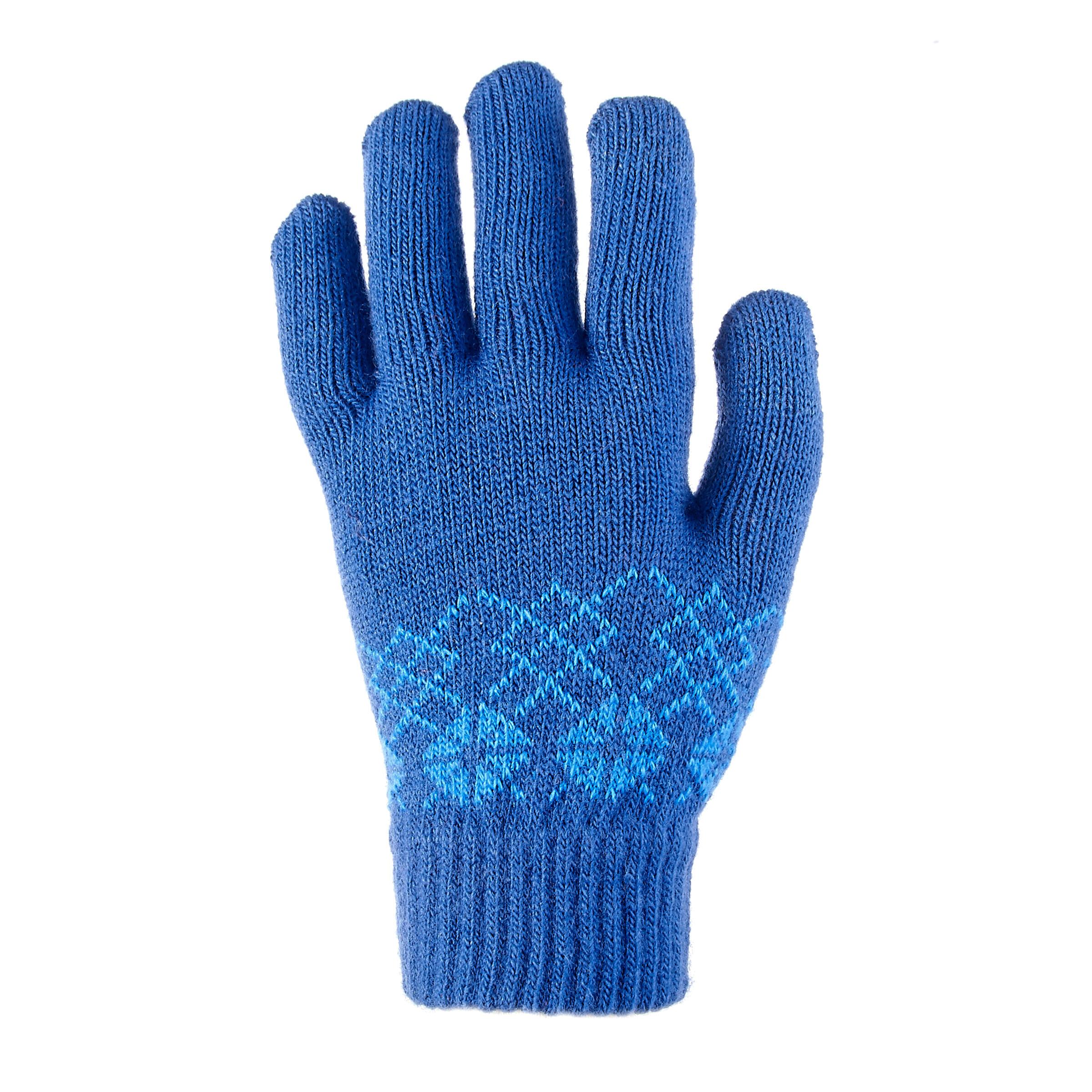 SH100 Warm Child's Hiking Knit Gloves-Blue
