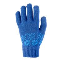 Children's Knitted Hiking Gloves MH100 - Blue