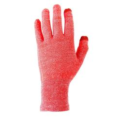 Onderhandschoenen voor bergtrekking Trek 500 rood