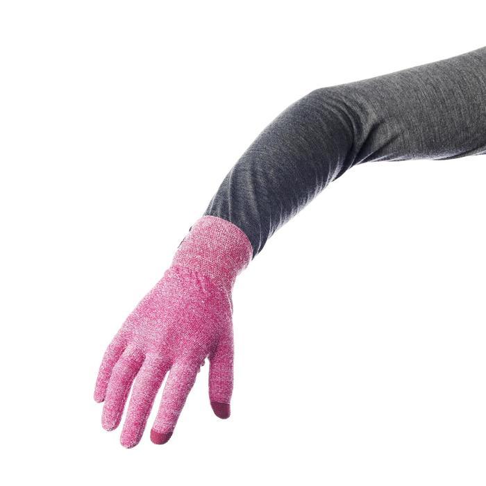 登山健行襯裡手套Trek 500-紫色