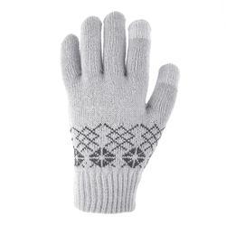 Gants en maille de randonnée junior SH100 warm gris