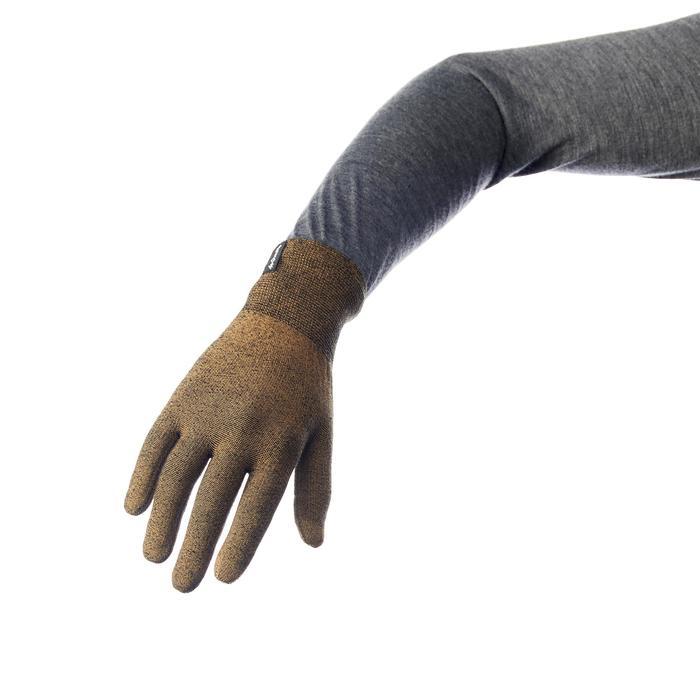 Unterziehhandschuhe Trek 500 khaki