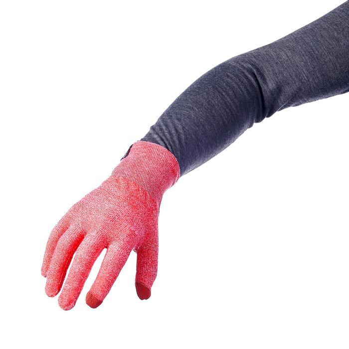 Onderhandschoenen voor bergwandelingen Trek 500 rood