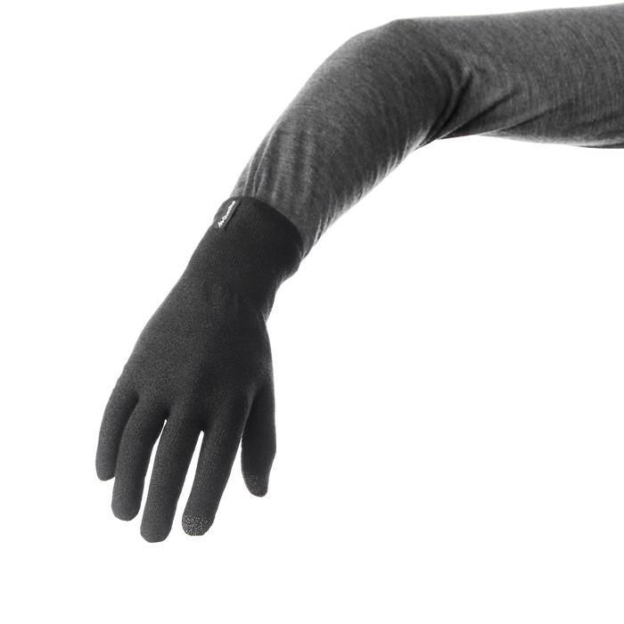 登山健行襯裡手套Trek 500-黑色