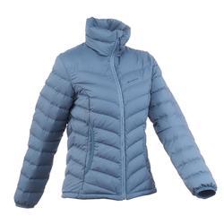 女款登山健行羽絨外套Trek 900 - 灰色