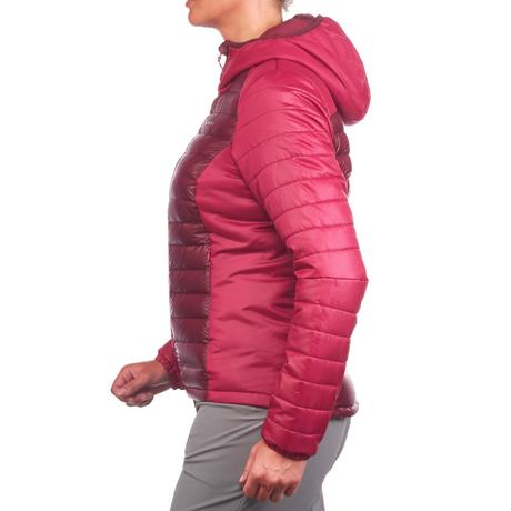 Women's X-Light 1 pink trekking down jacket | Quechua