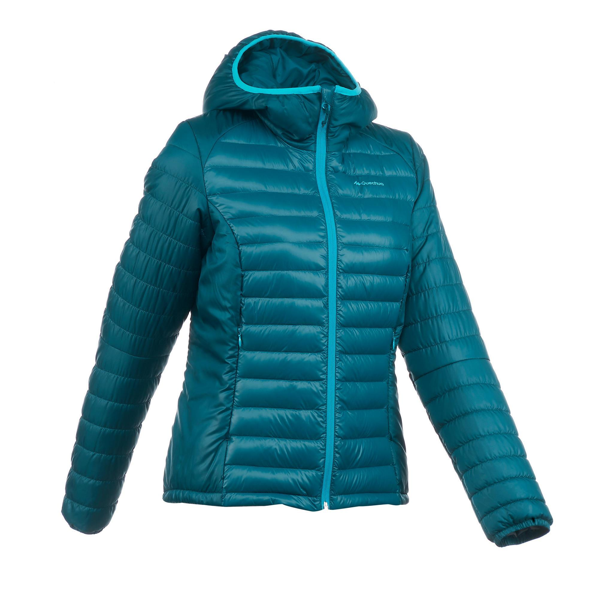 X Light 1 Women S Trekking Down Jacket Turquoise Quechua