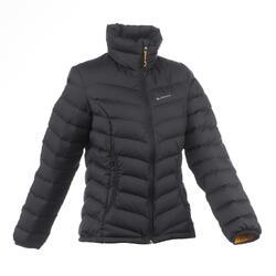 女款登山健行羽絨外套TREK 500-黑色