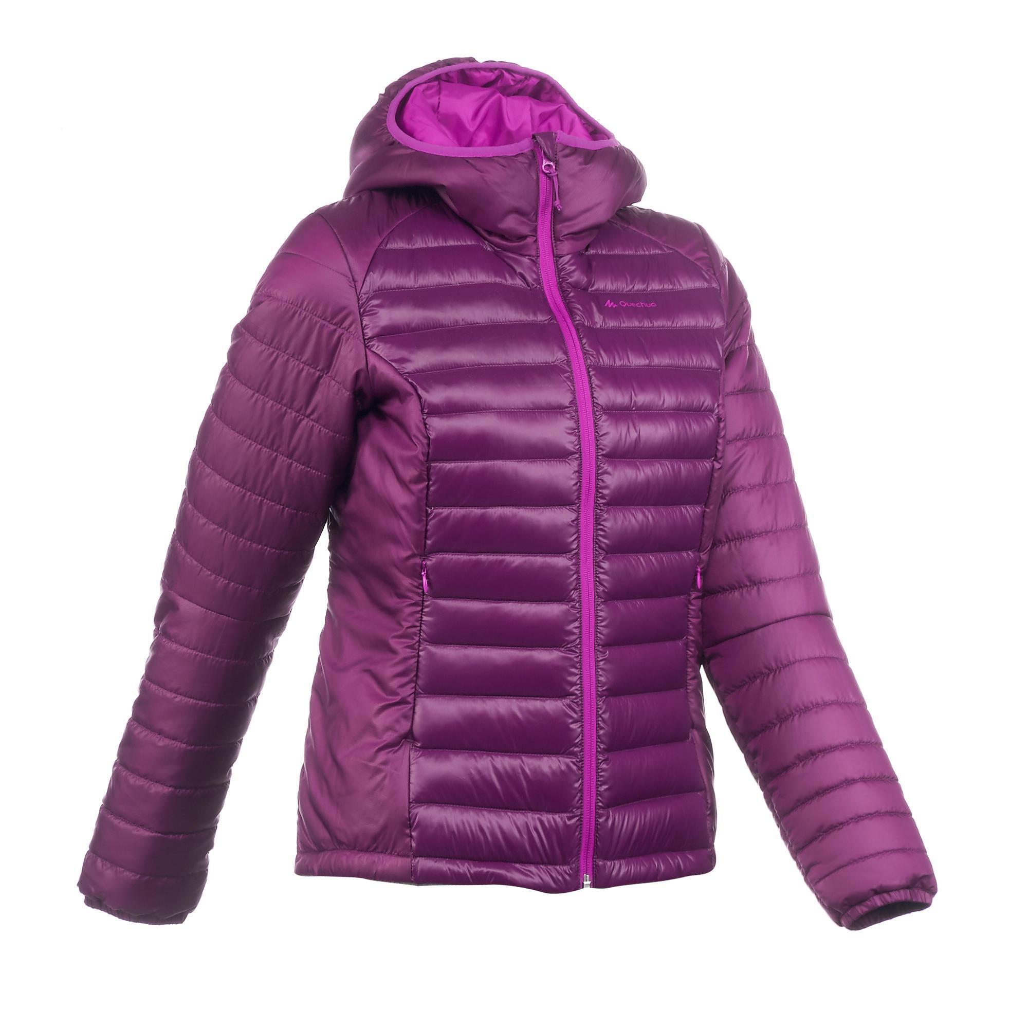 Doudoune trekking x light 1 femme violet quechua - Draps jetables decathlon ...