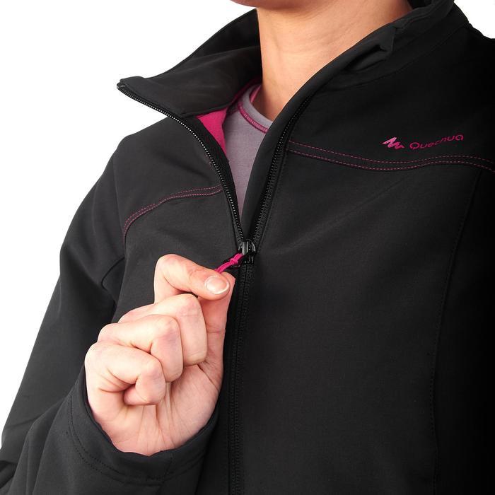 Softshell jas voor bergtrekking Trek 100 WIndWarm dames zwart