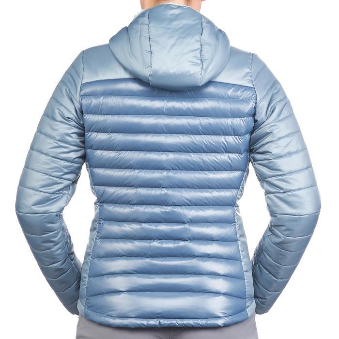 Chaqueta acolchada de trekking X-light 1 mujer gris azul