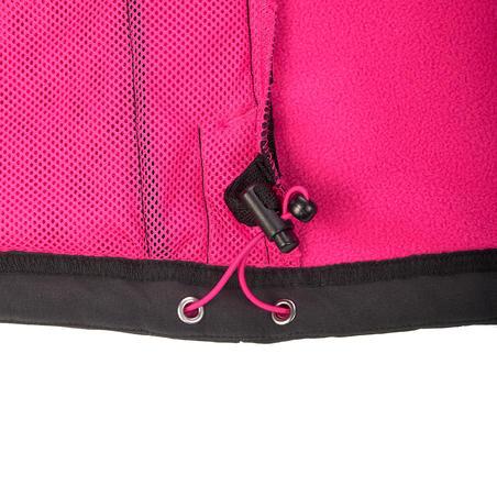 Women's Mountain Trekking Softshell TREK 100 WINDWARM - Black