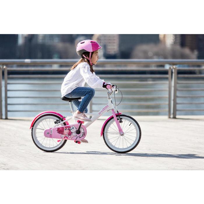 Kinderfahrrad 16 Zoll Docto Girl 500 weiß/pink