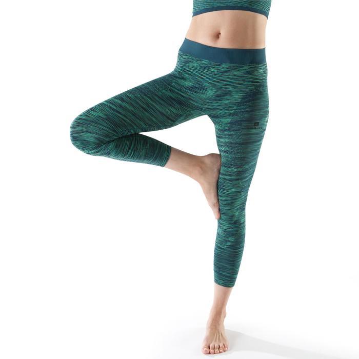 Legging YOGA sans coutures femme 7/8 chiné - 1199136